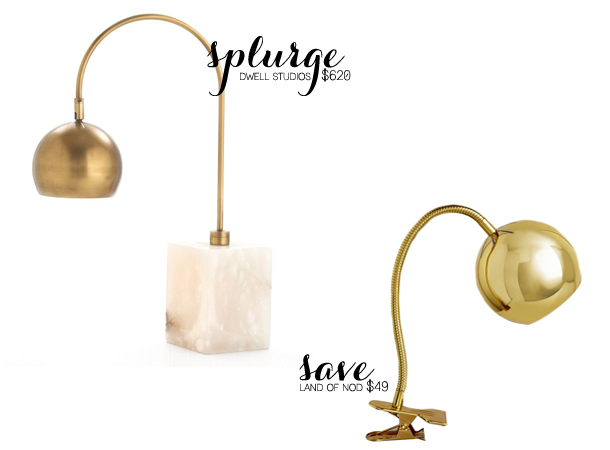 gold lamp splurge and save