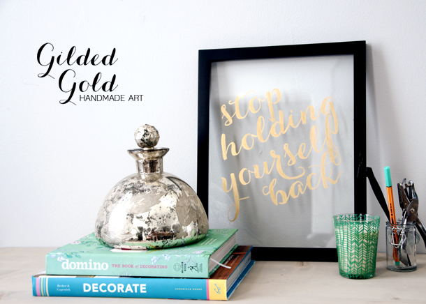 Gold Gilded Handmade Art - House of Earnest