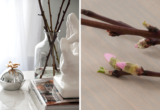 flowering branches diptych