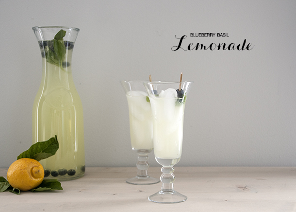 blueberry basil lemonade cocktail