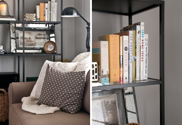 media shelving diptych - House of Earnest