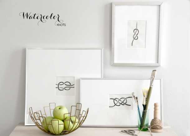 watercolor knot art - house of earnest