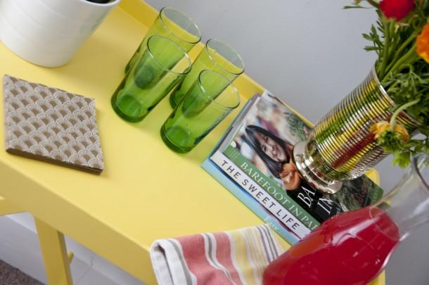 yellow bar table