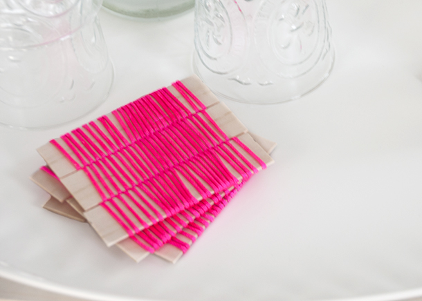 neon rope coasters - house of earnest