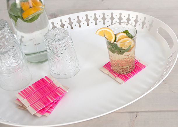 two material neon coasters - house of earnest