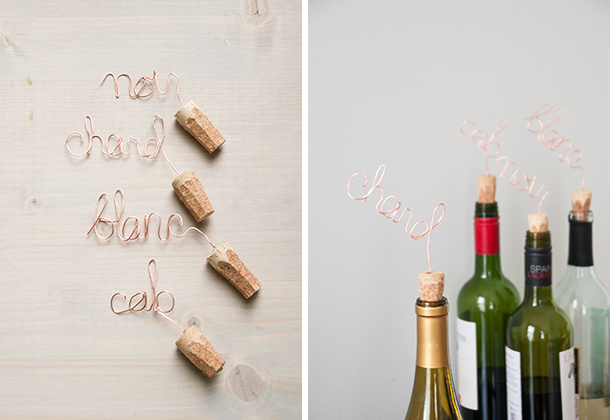 wire wine toppers