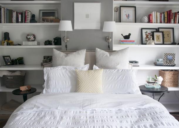 master bedroom white duvet