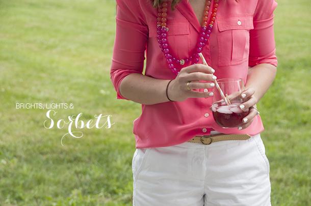 sorbet summer drinks