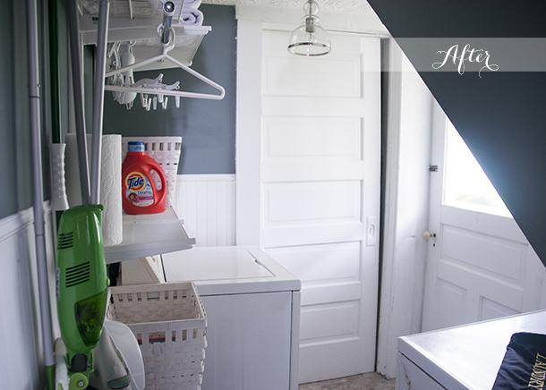 laundry room renovation DIY quick easy
