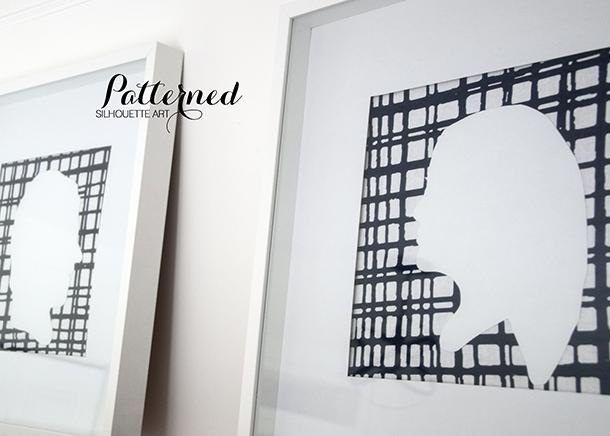 patterned silhouette art