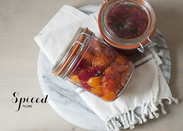 spiced plums