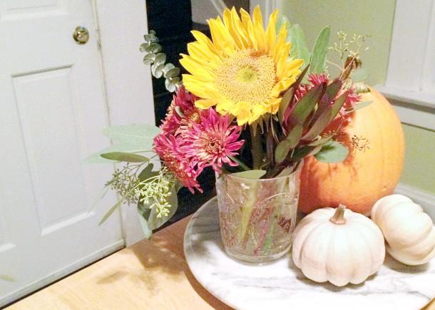 fall flowers four ways