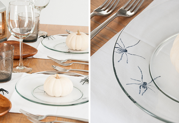 spooky spider plate DIY