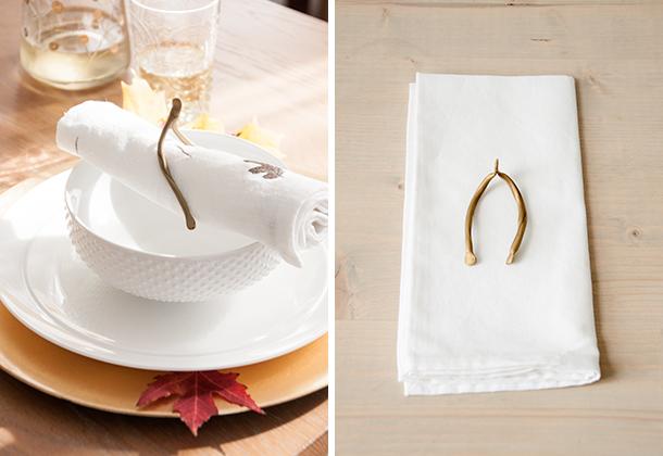 thanksgiving wishbone napkin ring