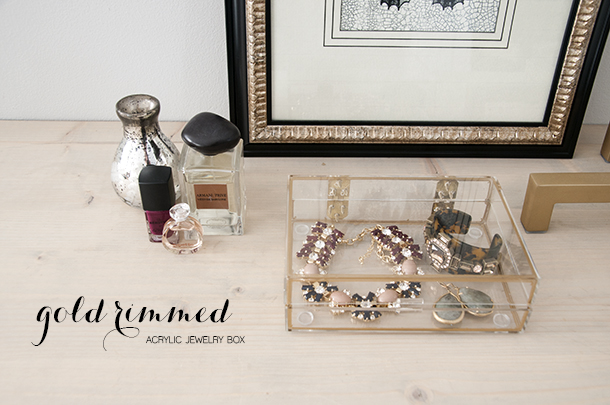 gold trim acrylic jewelry box