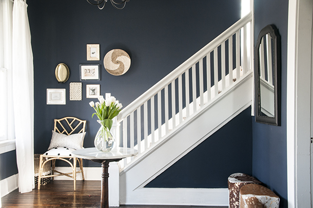 Navy blue paint color