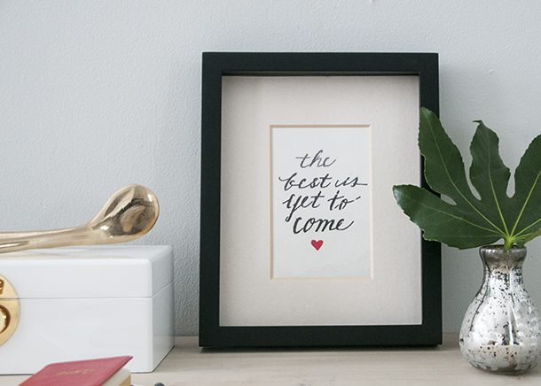 homemade quote art