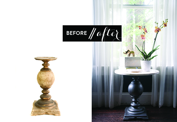 iron base marble table diy