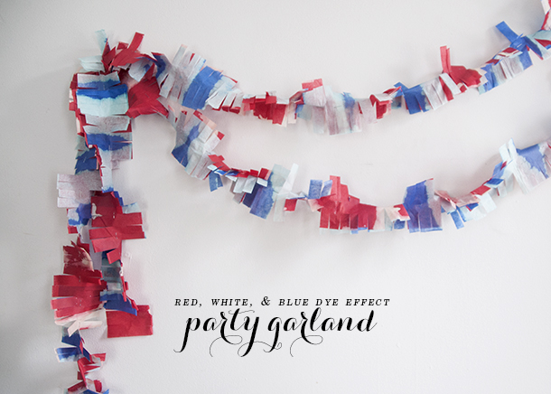 watercolor party garland
