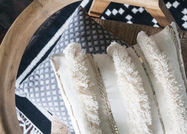 diy moroccan wedding blanket pillow