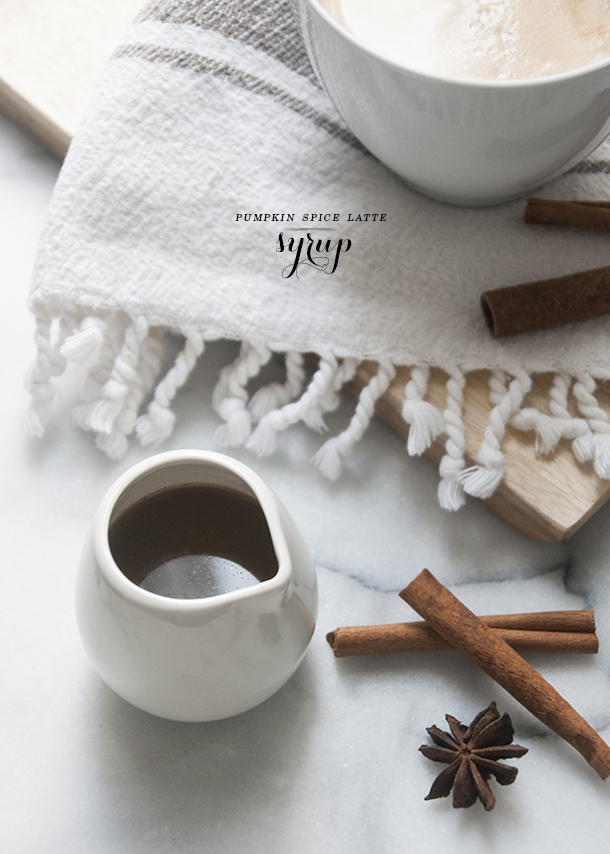 homemade pumpkin spice latte syrup