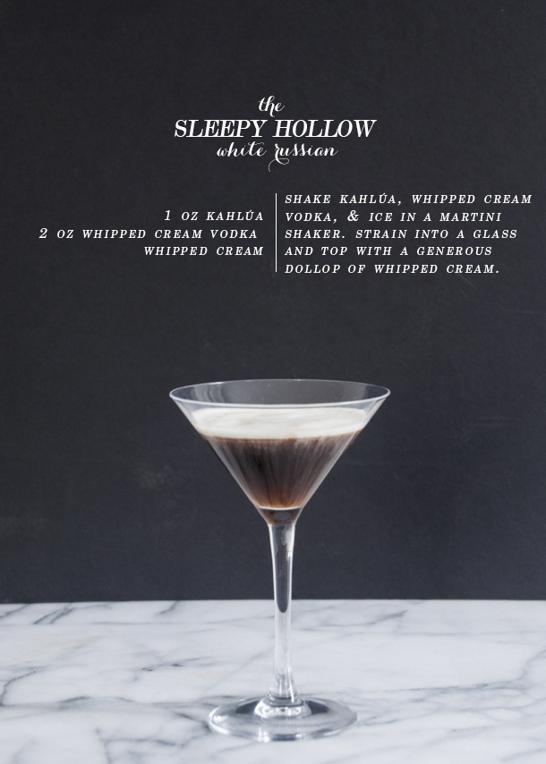 sleepy hollow white russian drink