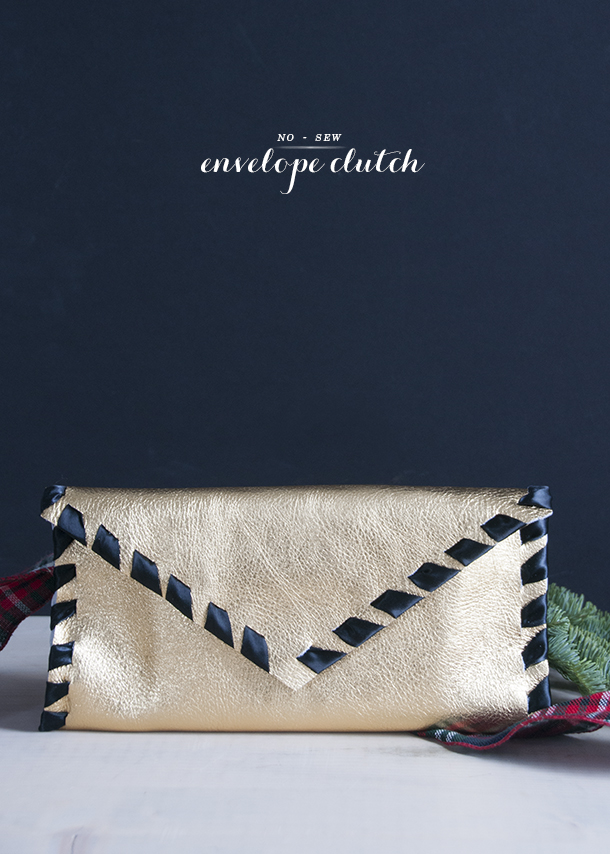 no sew clutch diy